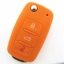 Silicone Car Key Cover for Skoda Fabia superb Rapid Octavia Yeti VW remote control case car