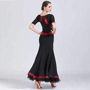 Image 2 - שחור שמלת נשפים אולם נשפים אישה בגדי ריקוד שמלת פלמנקו טנגו ואלס וינאי בנות פרינג ספרדית ללבוש שמלת ריקוד
