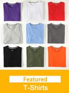 Tees Shirt Basic Round-Neck Female Plus-Size Women Solid 5XL Summer 100%Cotton