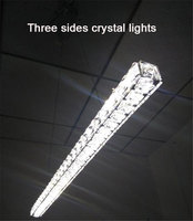 Modern L70cm Long Bar LED Crystal Chandelier Dining Room Kitchen Restaurant Office Illumination Lighting Ikea RH
