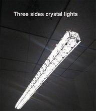 L70cm Long Bar LED Araña de cristal de comedor Cocina moderna Restaurante accesorios de iluminación Iluminación de oficina