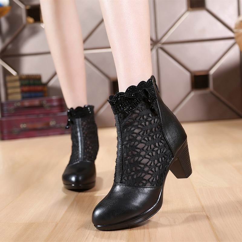 Creative HEE GRAND Pointed Toe Women Ankle Boots Black Short Elegant Boots Fashion 2017 Autumn Winter ...