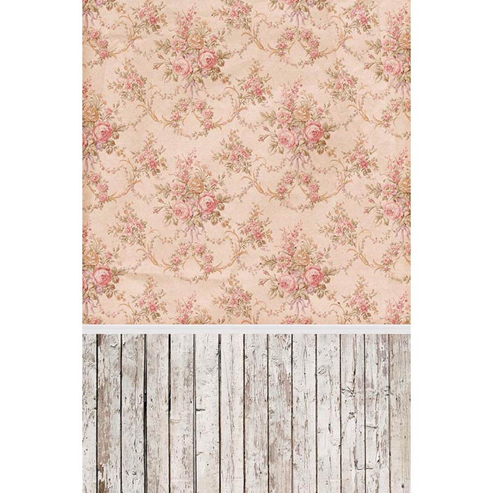 Vintage Floral Damask Wallpaper Vinyl Photography