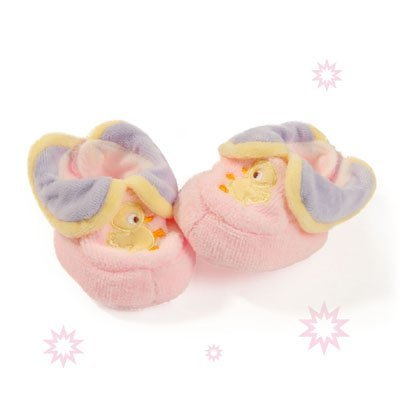 Free shipping baby duck girl pink baby booties shoes socks(0-3month)10cm length cotton infant soft