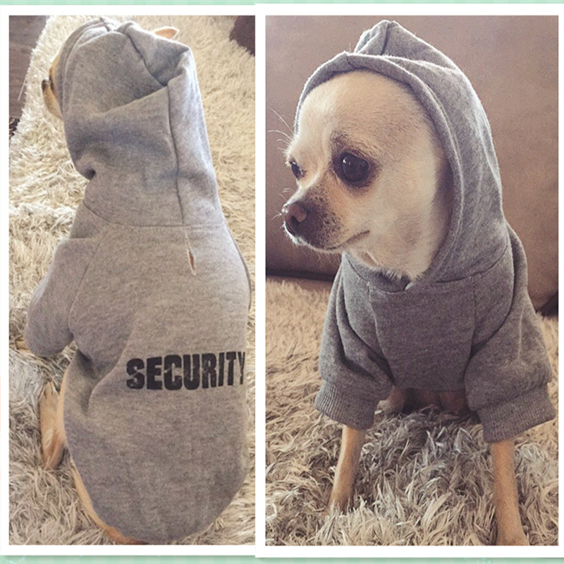 Security Dog Clothes Classic Pet Dog Clothes For Small