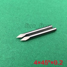 45 Angle 4mm 0 2mm tip Sharp Three Edge CNC Router Carving Tool Engraving Bits 10pcs