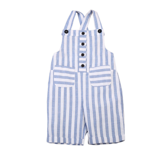 9e0bd1c367ef Newborn Baby Girl Blue Striped Romper Jumpsuit Outfits Sunsuit Summer  Clothes