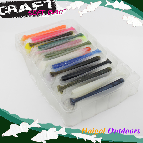 13 colors set package soft fishing lure --11 cm shad for pike fishing #H0904-110 mix color package on soft lure 15 cm shad bait soft bait for boat fishing