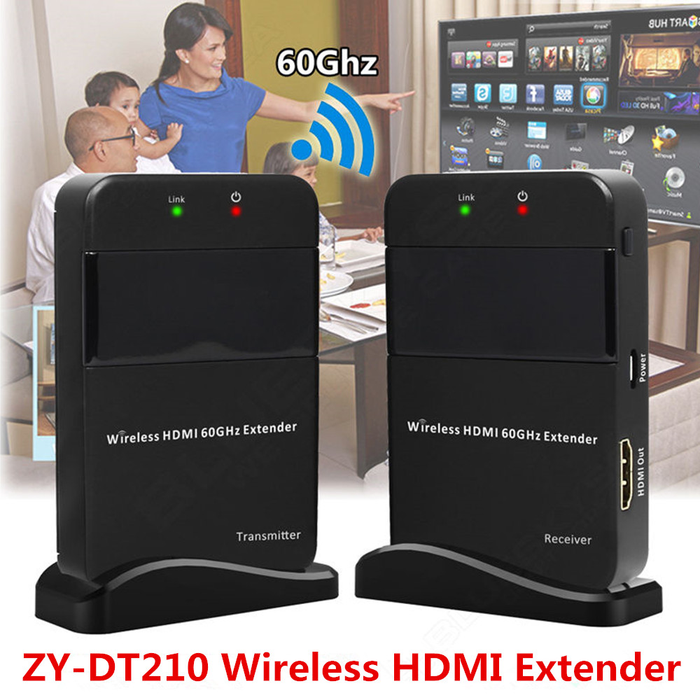 Full HD HDMI Wireless Video Transmission Extender 100ft Wireless HDMI Transmitter Receiver Kit 60GHz Wireless HDMI Transmissor
