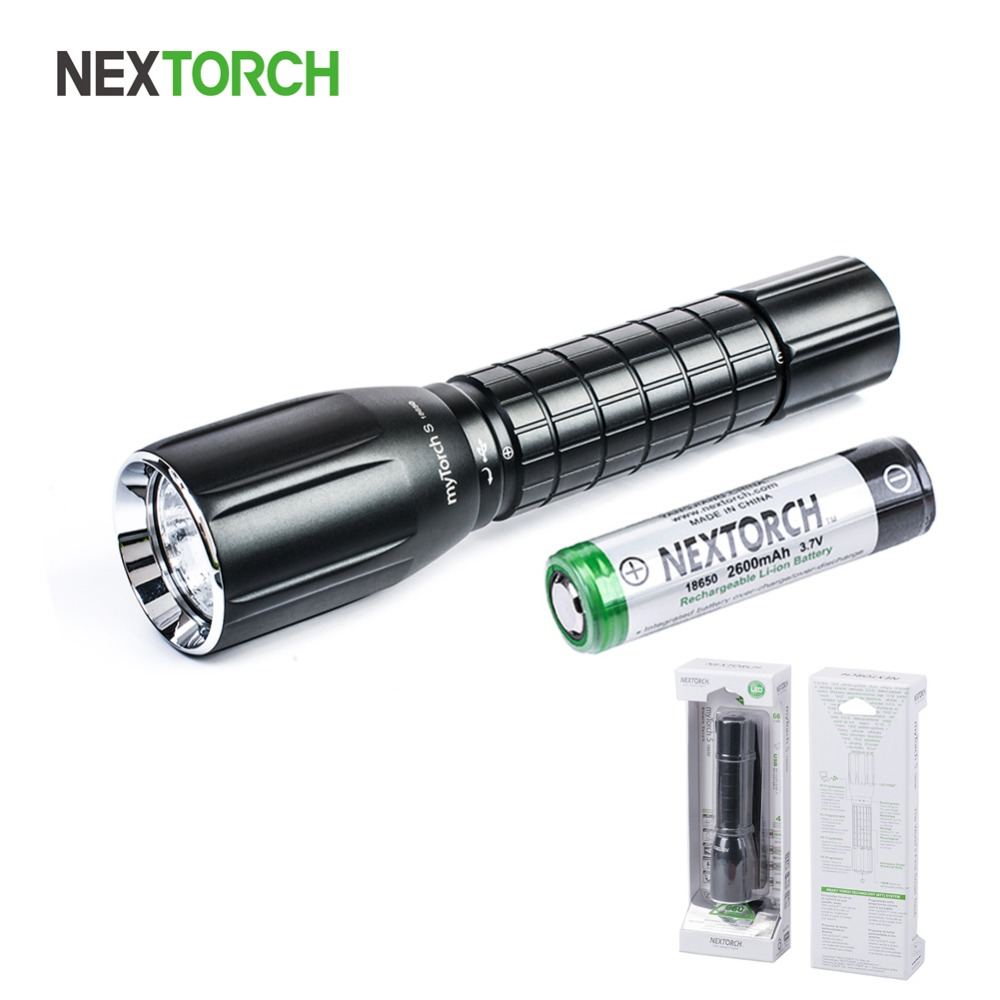 NEXTORCH myTorch S 18650 660 Lumens Standard IPX7 Waterproof Shockproof Ultra Bright Usb Rechargeable Led Smart Flashlight Torch portable ultra bright waterproof aluminum alloy mini led flashlight