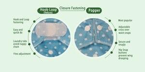Image 4 - [Littles & Bloomz]5ชิ้น/เซ็ตมาตรฐานห่วงห่วงล้างทำความสะอาดได้ผ้าอ้อมผ้าอ้อม,5 Nappies/ผ้าอ้อมและ5ไมโครไฟเบอร์แทรกหนึ่งชุด
