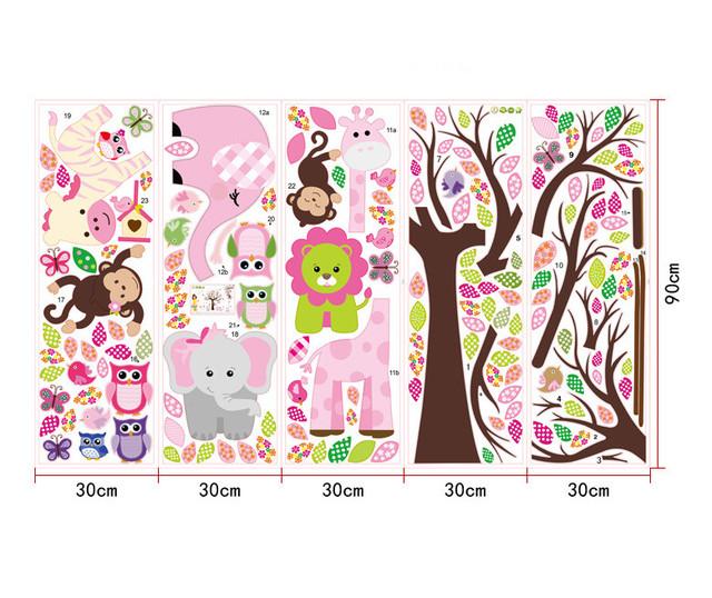 XXL Size Animals Cartoon  Wall Stickers for Kids Room