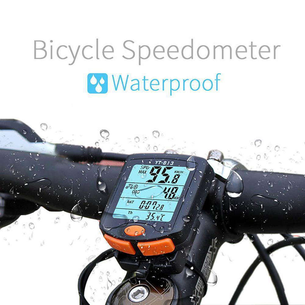 Hot sale portable Multifunction Wireless Bike Cycling Bicycle Computer Odometer Speedometer big screen Backlight Good waterproof
