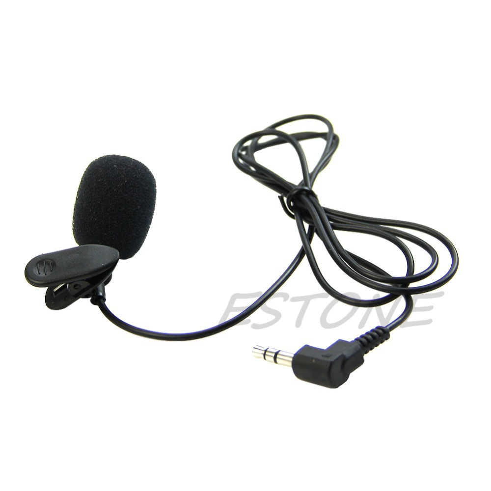 1Pc Mini Hands Free Clip On Lapel Microphone Mic For PC Notebook Laptop Skype 3.5mm