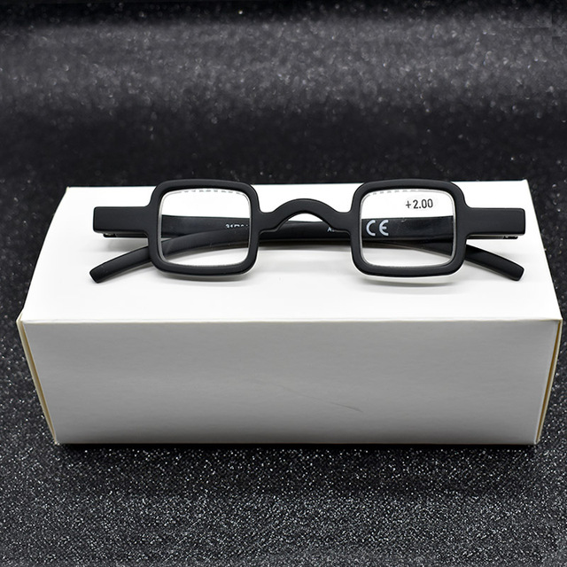 e1dc1eb69540 Unisex Germany Mini Black Reading Glasses Retro Vintage Small Square Frame  Magnifier Eyewear Gift For Needle Top +1.5 +2.0 +2.5