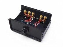 WY32 パッシブプリアンプステレオオーディオ 3 イン 2 アウト RCA 信号入力オーディオスプリッタ/スイッチャーボリュームコントローラの送料無料