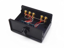 WY32 Passive preamplifier Stereo audio 3 IN 2 OUT RCA Signal Input Audio Splitter/Switcher Volume Controler Free Shipping