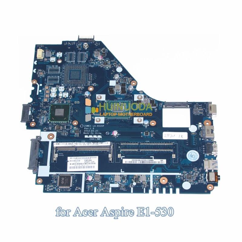 Z5WE1 LA-9535P NBMEQ11002 NB.MEQ11.002 laptop motherboard For Acer aspire E1-530 HM70 Pentium 2117U SR0VQ DDR3 nokotion laptop motherboard for acer aspire 5820g 5820t 5820tzg mbptg06001 dazr7bmb8e0 31zr7mb0000 hm55 ddr3 mainboard