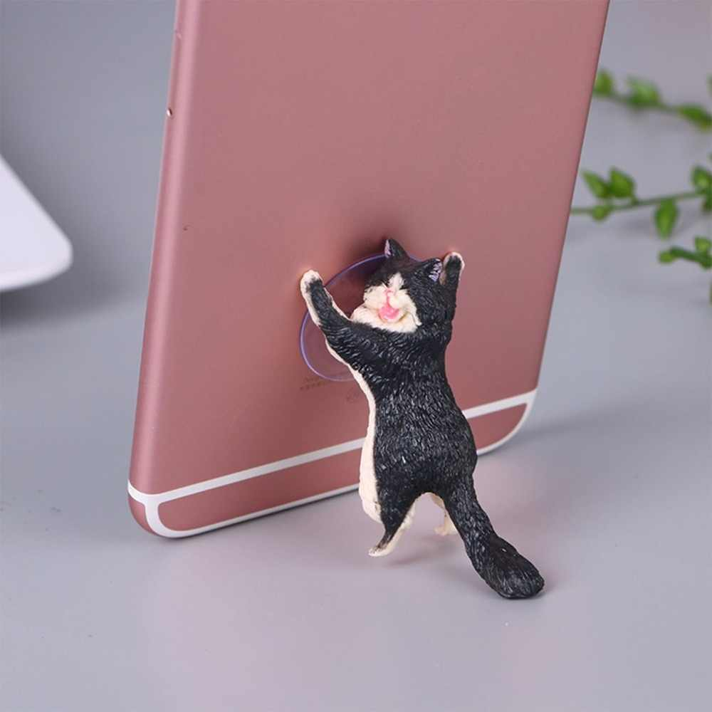 حامل هاتف لطيف القط دعم الراتنج حامل هاتف المحمول حامل مصاصة أقراص مكتب مصاصة تصميم عالية الجودة حامل هواتف ذكية