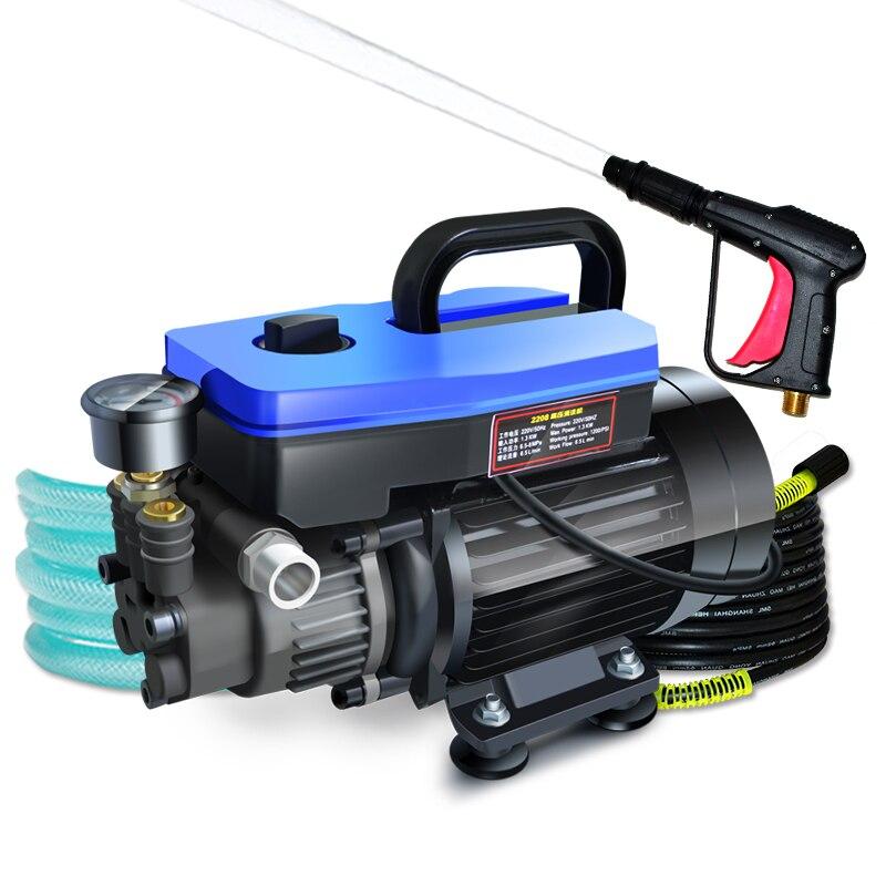 Lave-auto, 220 v ménage nettoyeur haute pression, auto-aspiration, jet d'eau pompe de brosse, auto pompe de lavage