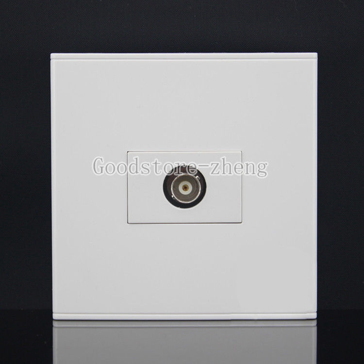 Wall Face Plate CCTV Camera Security BNC Female Connector Port Outlet Faceplate 86x86mm single double port rj45 thick wall plate faceplate wall mount installation with rj45 & rj11 keystone socket outlet
