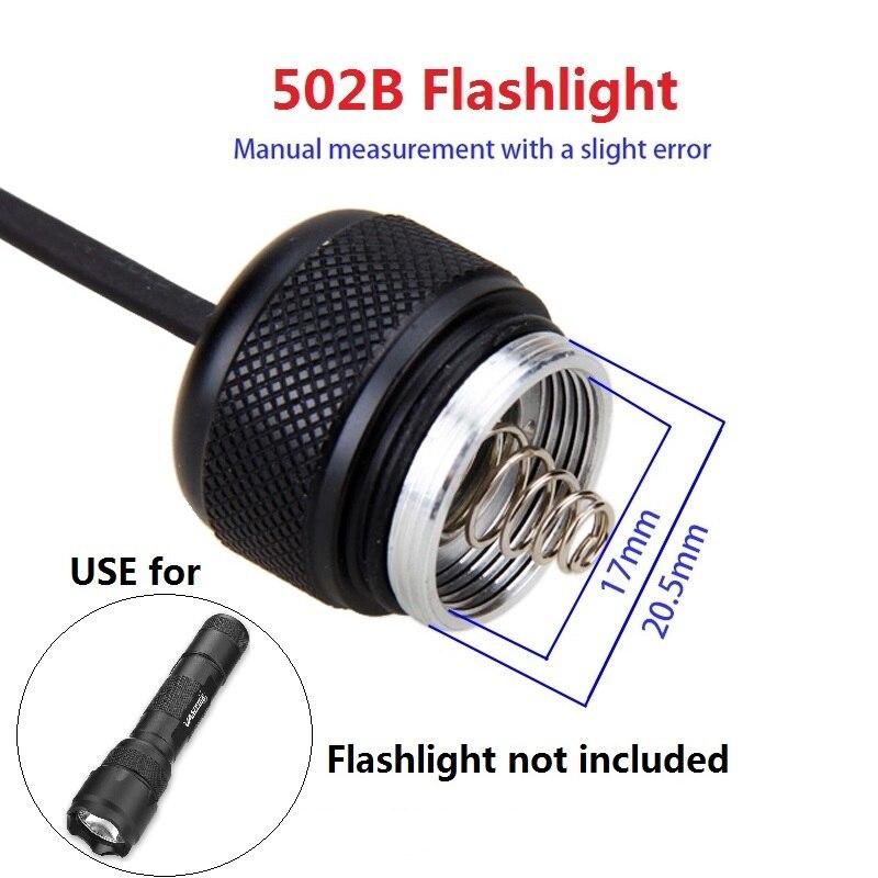 Image 4 - 9 modelo controlador do interruptor de pressão para  c8/501/502b/VA 501/a100/c10/801/t67/710 lanterna tocha luz interruptor  da cauda do ratoLanternas