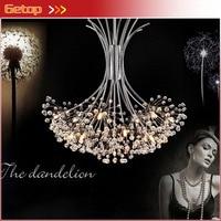 ZX Modern K9 Crystal Chandelier G4 LED Dandelion H80cm Lights Lustre Sitting Room Indoor Decorative Ceiling