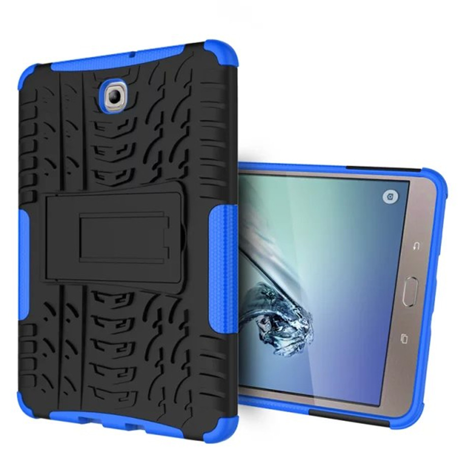 Heavy Duty Armor Tire Style TPU PC Hard Cover Case For Samsung GALAXY Tab S2 T710 T715 8.0