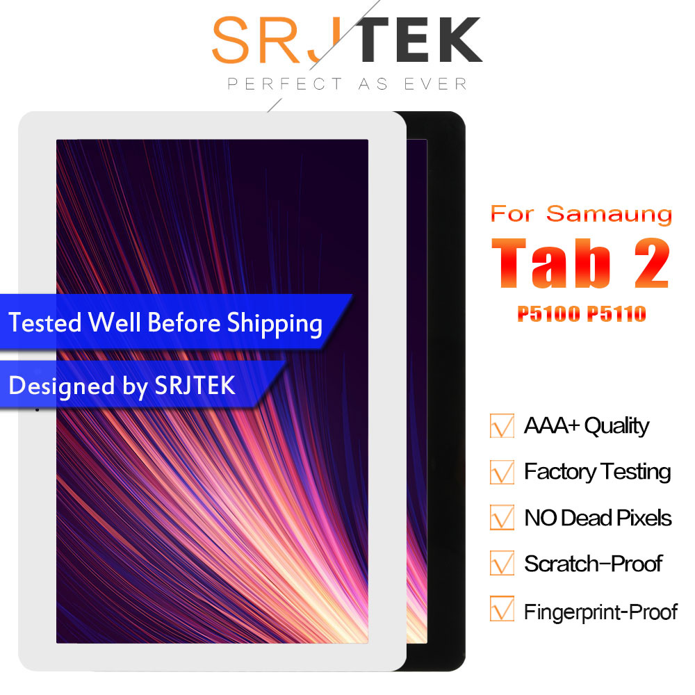Helpful Srjtek 10.1 For Samsung Galaxy Tab 2 P5100 P5110 Sm-p5100 Sm-p5110 Lcd Display Matrix Touch Screen Assembly With Frame Parts Computer & Office