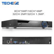 Full HD 32 канала 1080 P CCTV NVR 8CH * 5 м/16CH * 4 м/32CH 2MP /32CH 1.3 м ONVIF P2P обнаружения движения HDMI VGA CCTV видео Регистраторы