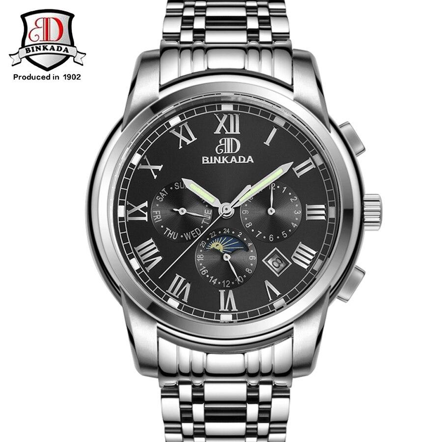 ФОТО Mechanical Watch BINKADA Brand Full Steel Business Watches Relojes Hombre 2017 High Quality Luxury Watch relogio masculino