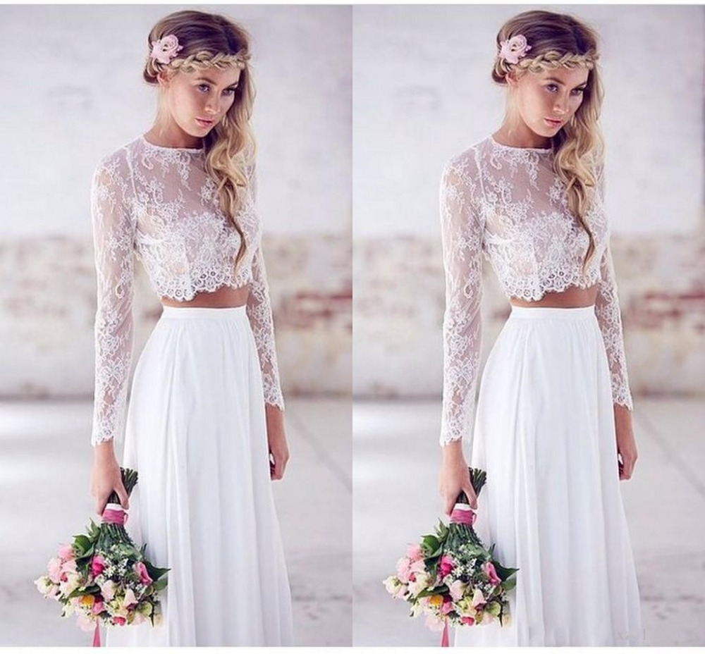 bridal lace topper with 34 sleeves crop top wedding dress Crop top Wedding dress zoom