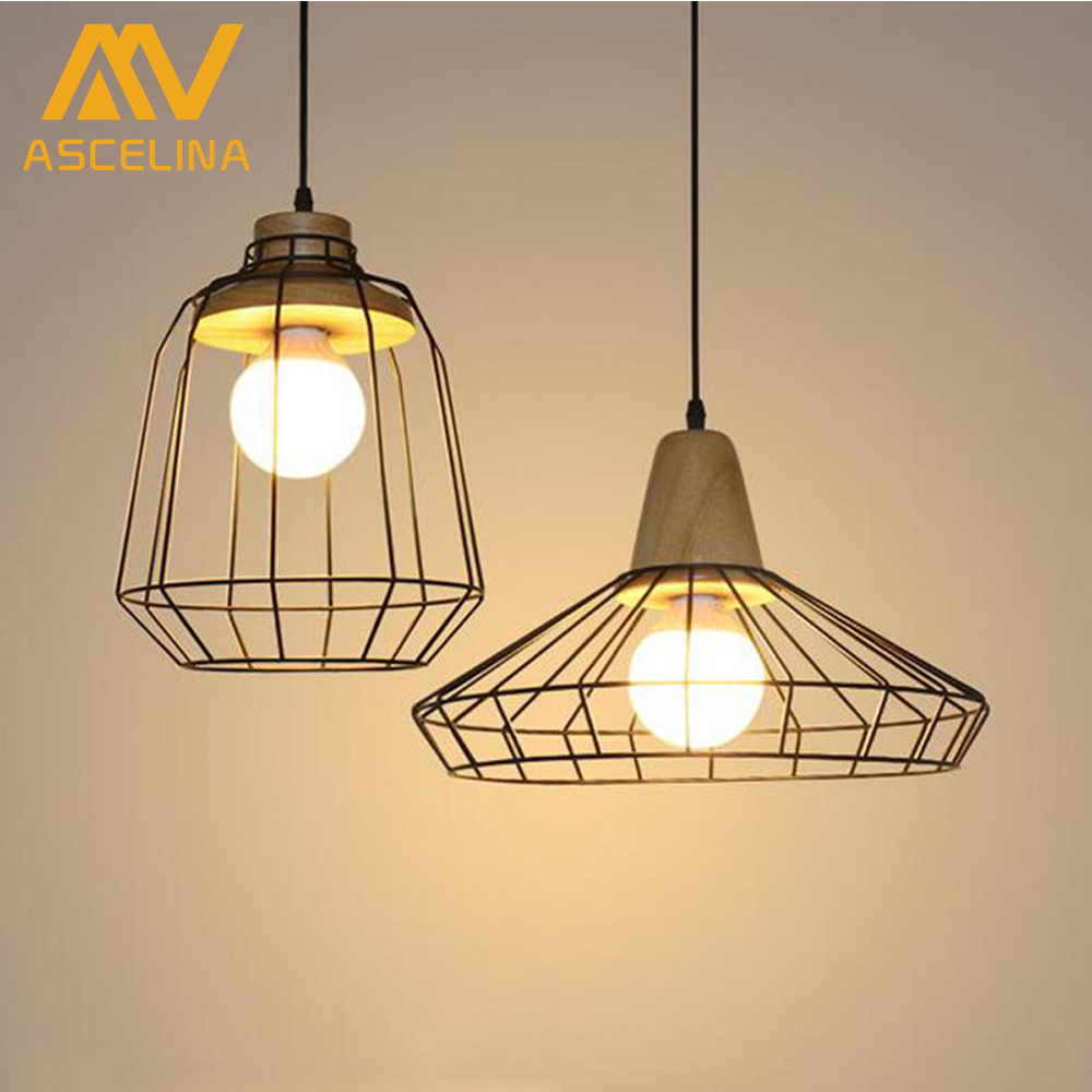 Retro Style Chandeliers Lamps Wood