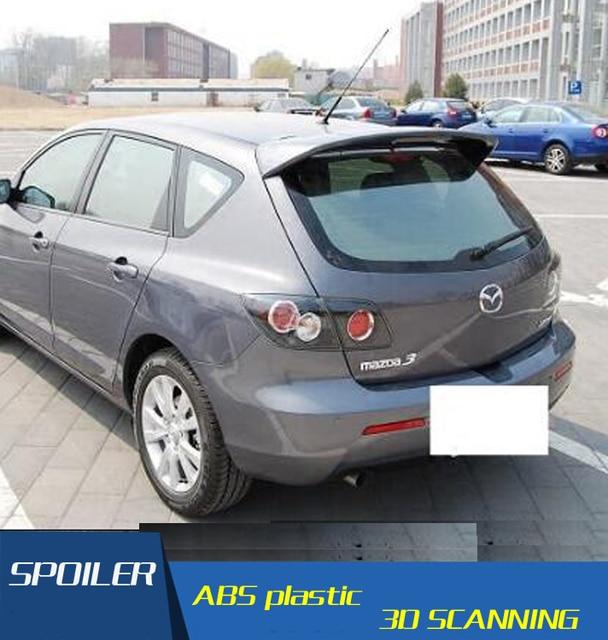 For Mazda 3 Spoiler ABS Material Car Rear Wing Primer Color Rear Spoiler  For Mazda 3