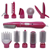10 In 1 Hot Combs & Blow Set For Hair Curling One Step Hair Blower And Volumizer Professional Hair Curler Brush Hairbrush