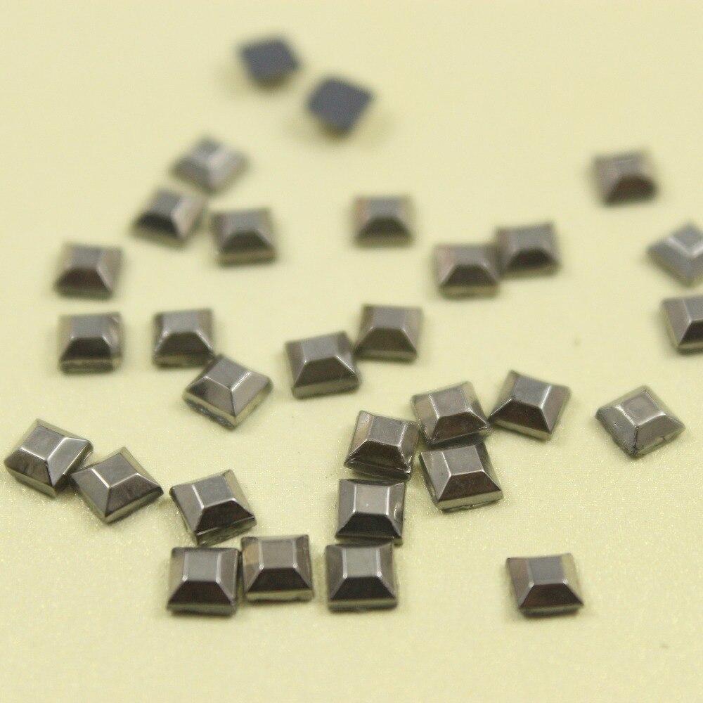 C 1000pcs/lot 4mm side length square hotfix glass rhinestone DIY clothes/garment accessory