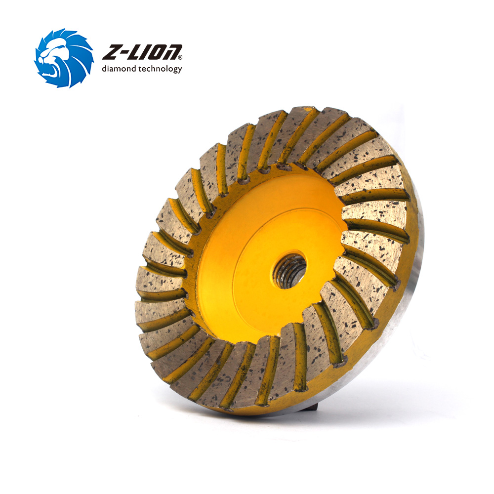 Z-LION 1 Piece 4 Diamond Cup Wheel Grinding Disc Grit 100# Concrete Floor Sanding Aluminum Based Diamond Cup Stone Tool