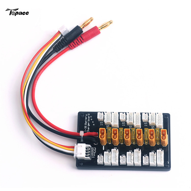 XT30 1S-3S Plug Parallel Charging Board For IMAX B6 Charger for RC Helicopter High Quality Accessories yuneec q500 battery parallel charging board compatible with imax b6 charger adapter