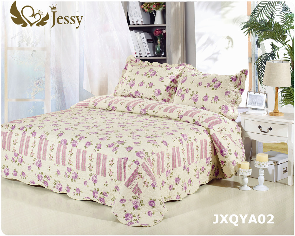 Pink leopard print bedding - Jessy Home Antique Chic Quilted Patchwork Throw Leopard Serenta Printed Paisley Flower 3 Pcs Reversible Quilted