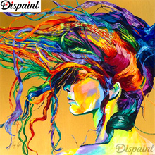 Dispaint Full Square/Round Drill 5D DIY Diamond Painting Woman oil painting Embroidery Cross Stitch 3D Home Decor A10840