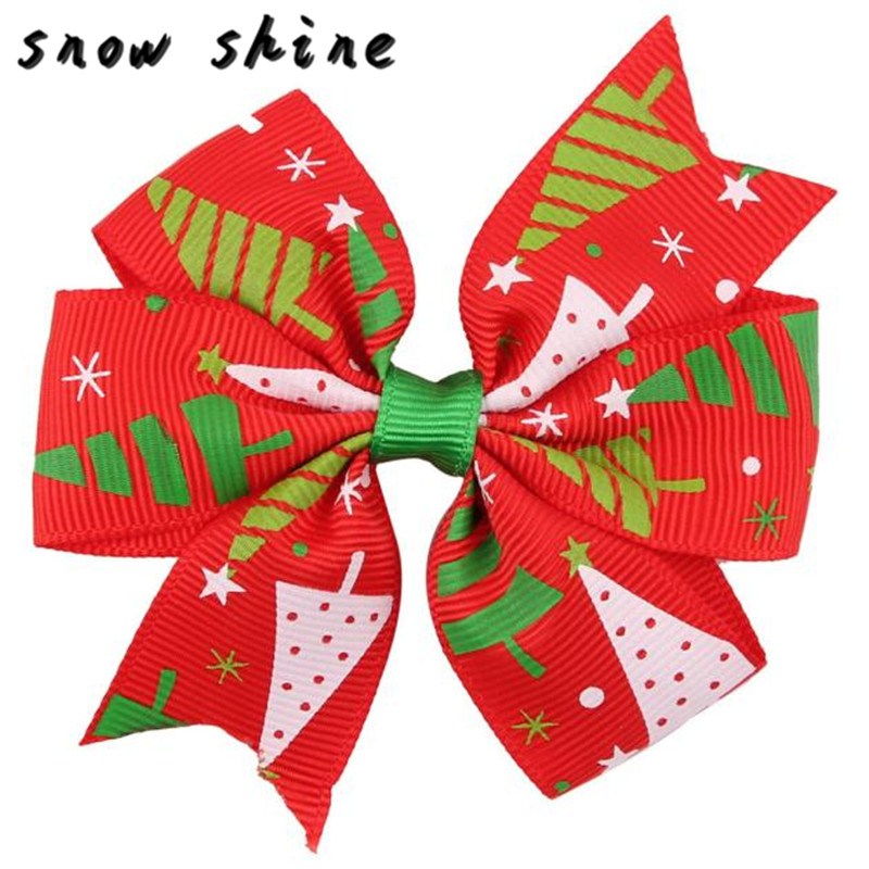 snowshine YLS  Christmas Ornaments Bowknot Hairpin Headdress   free shipping *cydj