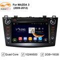 GreenYi 4-Core Android 5.1 Unidade de Cabeça de DVD Multimídia Player De Vídeo Do Carro para MAZDA 3 2009 2010 2011 2012 GPS 3G 4G Rádio fone de ouvido estéreo