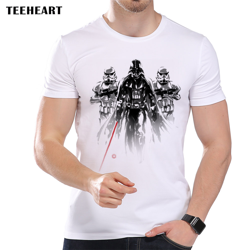 Shirt design ink - Teeheart New 2017 Summer Ink Star Wars Darth Vader Design T Shirt Men S High Quality Tops