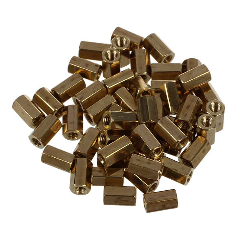 50 Pcs Metal Hex M3 Female Screw PCB Standoff Spacers 8mm Body Hexagonal Threaded Spacers Are Ideal For Mounting Between PCB
