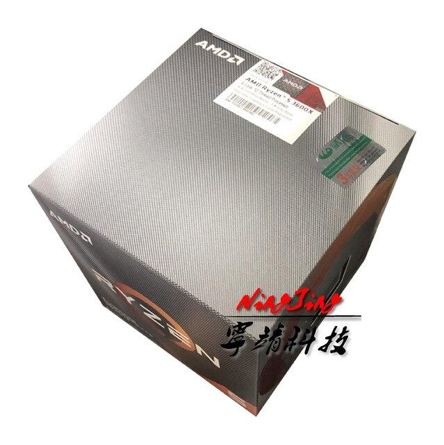 AMD Ryzen 5 3600X R5 3600X3.8 GHz Six Core Doze Processador CPU Fio 7NM 95 W l3 32 = M 100 000000022 Socket AM4 novo e com ventilador