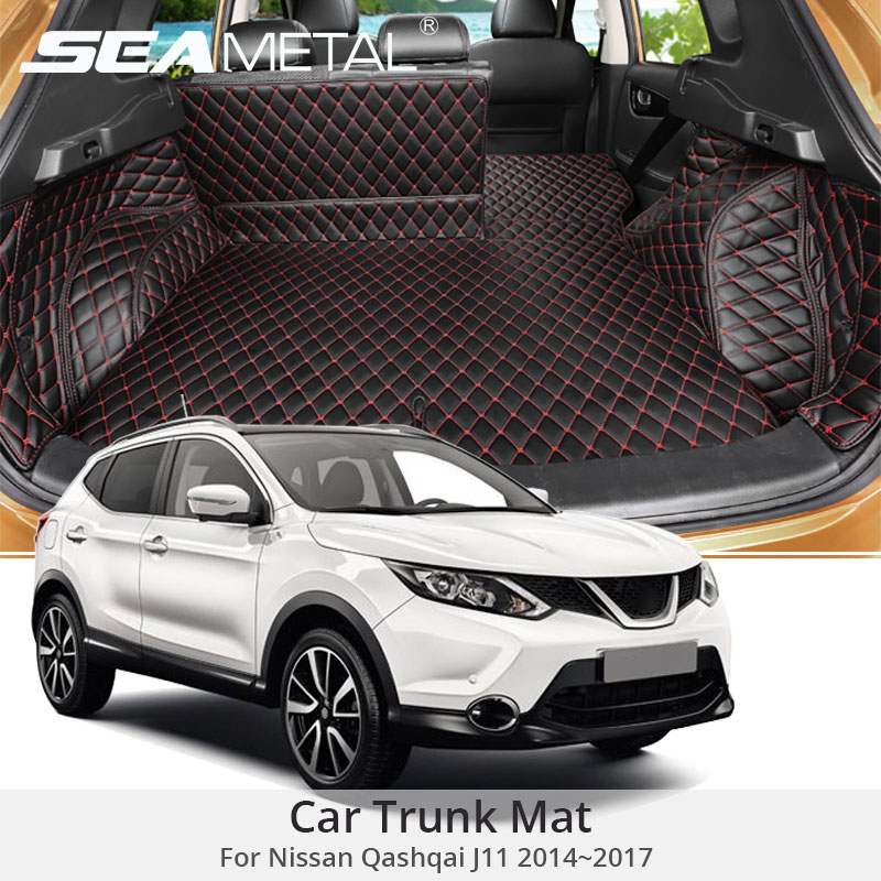 for nissan qashqai j11 2017 2016 2015 2014 custom car trunk mat cover rug leather auto rugs cars. Black Bedroom Furniture Sets. Home Design Ideas