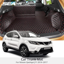 For Nissan Qashqai J11 2017 2016 2015 2014 Custom Car Trunk Mat Cover Rug Leather Auto Rugs Cars Interior Floor Mats Accessories