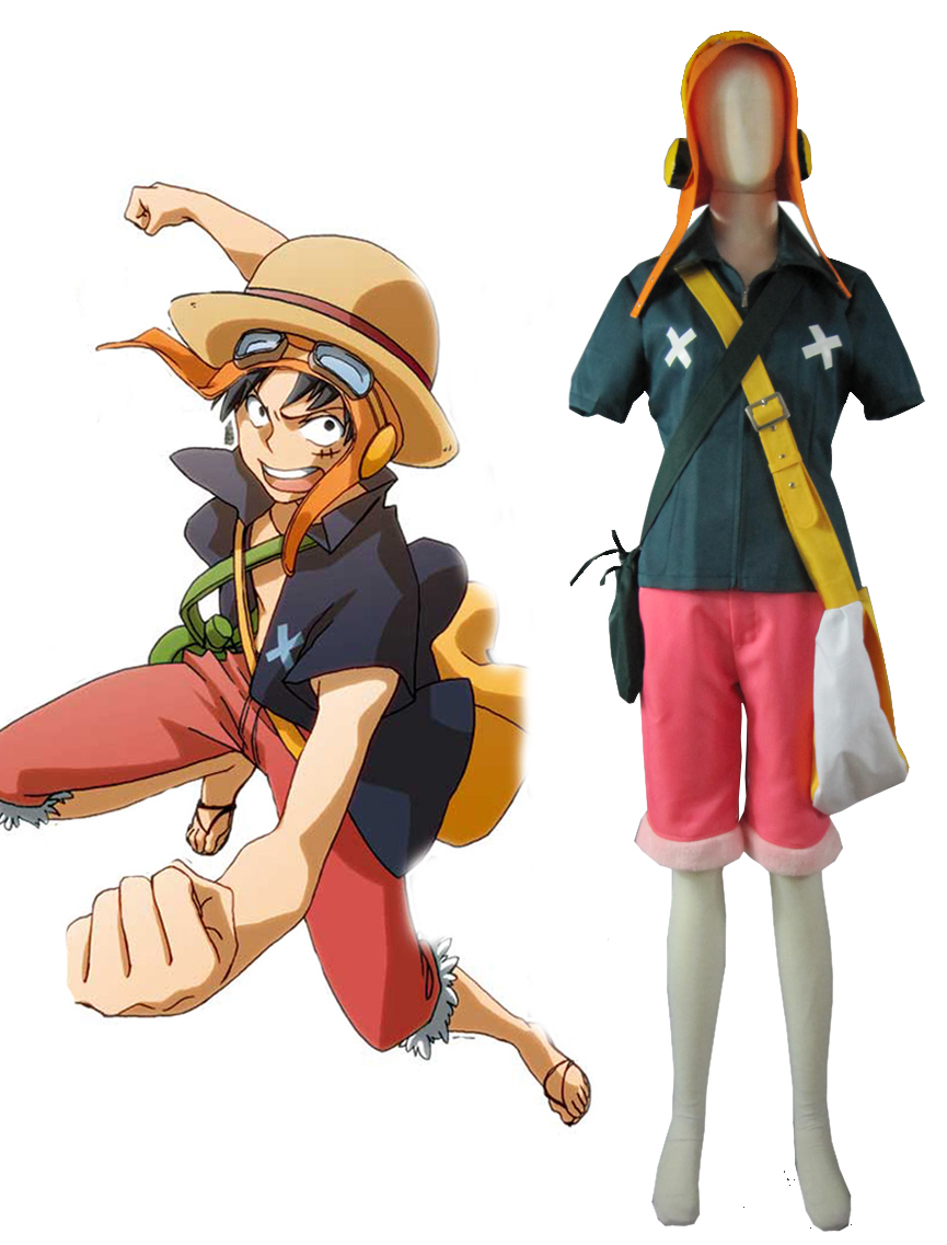 Free Shipping One Piece Film Strong World Monkey .D.Luffy Anime Cosplay Costume