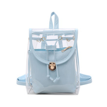 Wooalt Women PVC Transparent Jelly Mini Backpacks Girls Small Clear Backpack Fashion Student Casual Rucksack Mochila Feminina