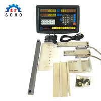 Orginal SOHO 2 2 Axis Milling Lathe DRO Digital Readout and 2 Pieces 0 1000mm Linear Scale (Complete set with accessories)